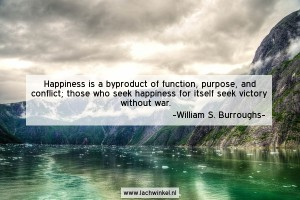 Happiness is a byproduct of function, purpose and conflict