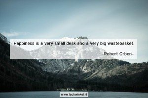 Happiness is a very small desk