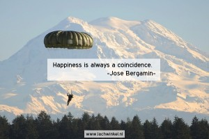 Happiness is always a coincidence
