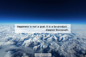 Happiness is not a goal