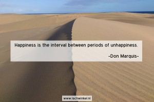 Happiness is the interval