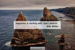 Happiness is working with Jack Lemmon