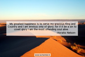 My greatest happiness is to serve