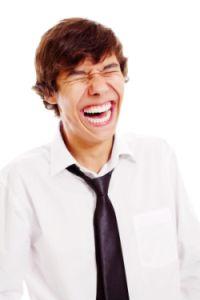 lachen op het werk